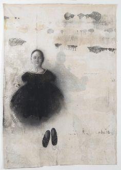 Richard Morin, Marée noire, 2011, Huile sur toile 188x135cm