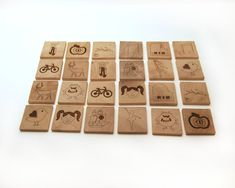 wooden toy memory game