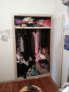 Before photo of a wardrobe make over!