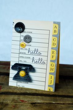 Address Book Hello Card by Jess Witty for Papertrey Ink (May 2012)