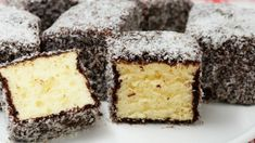 This is the Women's Weekly classic recipe. Here plant based butter Nuttelex replaces the butter content, though you'd never know. Lamington Cake Recipe, Lamingtons Recipe, Square Cake Pans, Square Cakes, Chocolate Topping, Melting Chocolate, Coconut Chocolate, Chocolate Cakes, Cake Recipes