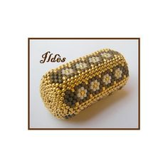 Beaded Beads, Beaded Bracelets, Peyote Beading, Beadwork, Beaded Jewelry Designs, Brick Stitch, Handmade Beads, Beaded Embroidery, Decorative Boxes