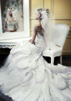 ♥ Michael Cinco wedding gowns featured on Wedding Inspirasi ♥ {See the beautiful dresses} Dream Wedding Dresses, Bridal Dresses, Wedding Gowns, Wedding Bride, Sequin Wedding, Bling Wedding, Luxury Wedding, Grecian Wedding, Gypsy Wedding