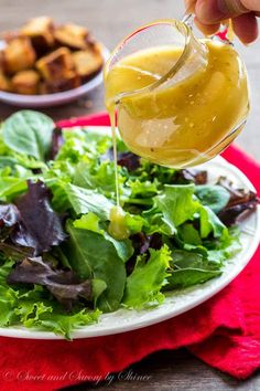 This creamy honey Dijon dressing is my new favorite. Not too sweet and not too spicy, well-balanced flavors are what makes this dressing a winner!