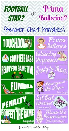Behavior Chart Printables. I normally think these are kind of silly, but I love the creativity of these!