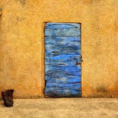 Lavender Door In Roussillon, France.