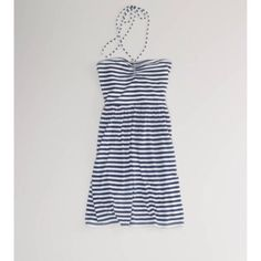 American Eagle Outfitters Striped Halter Dress Navy blue and white stripes American Eagle Outfitters Dresses