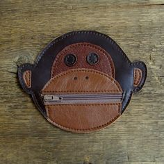 Recycled Leather Monkey Pouch