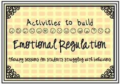 This packet is designed to help kiddos regulate their emotions.  Includes 5 activities that can be used with indiv or groups.  Excited to give it a shot.