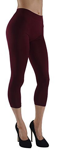 New Trending Pants: Vesi Star Womens Comfort Flexible Capri Leggings C02 (Regular, Burgundy C02). Vesi Star Women's Comfort Flexible Capri Leggings C02 (Regular, Burgundy C02)   Special Offer: $9.95      200 Reviews 92% Nylon / 8% Spandex. Feels very soft and comfortable.Very stylish and modern perfect for everyday use or special occasion outfit. Pull on style. Do not bleach.The...