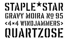 #FreshFonts Vtg Stencil UK No. 76 http://www.fontshop.com/fonts/family/vtg_stencil_uk_no_76/ von Astype #Stencil #Schablone #UK 14_34