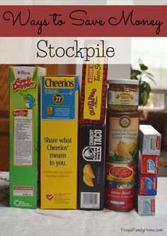 When you buy most of your items at low prices and then store them until you need them you can really save a bunch. Here's how and what to stockpile. http://www.frugalfamilyhome.com/budget/ways-to-save-money/ways-save-money-stockpile