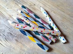 Pencils in masking tape