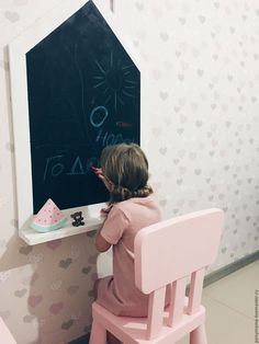Детская ручной работы. Ярмарка Мастеров - ручная работа. Купить Доска для рисования. Handmade. Комбинированный, доска монтессори, меловая доска