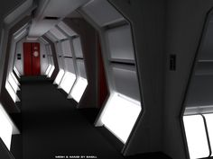 Corridors   Starstation Computer Art