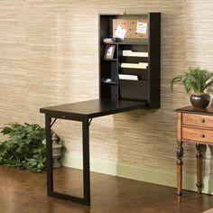 Wildon Home ® Blackpool Fold-Out Convertible Writing Desk You'll Love   Wayfair