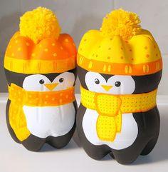 Pinguin aus Plastikflaschen