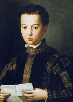Portrait of Francesco, son of Cosimo I de Medici (~1551) BRONZINO Agnolo di Cosimo di Mariano, conosciuto come il Bronzino (Monticelli di Firenze, 17 novembre 1503 – Firenze, 23 novembre 1572)   #TuscanyAgriturismoGiratola