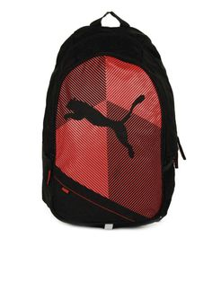 62e2c7a346 Buy PUMA Unisex Echo Plus Black   Red Backpack - Backpacks for Unisex