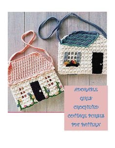 Digital Download Adorable Girls Crocheted Cottage Purse PDF Vintage Pattern by harmonycollectibles