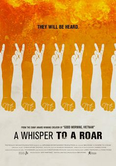 Official theatrical movie poster for A Whisper to a Roar Directed by Ben Moses. Design Art, Print Design, Logo Design, Web Design, Typography Poster, Typography Design, Grafik Design, Documentaries, Cool Things To Buy