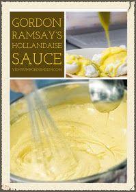 Yum Yum for Dum Dum: Gordon Ramsay's Hollandaise Sauce - Gordon Ramsay - Sauce Gordon Ramsay, Hollindaise Sauce Recipe, Hollendaise Sauce, Bernaise Sauce, Recipe For Hollandaise Sauce, Brunch Casserole, Sauces, Sandwiches, Healthy Recipes