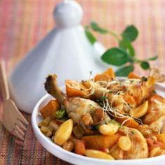 Tajine de poulet aux raisins et patates douces : 25recettes de plats uniques - Journal des Femmes