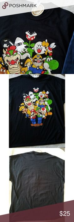 Nintendo Super Mario NWT T-SHIRT Measurements: Laying Flat •Size: 2XL  •Neckline to bottom seam: 31.5 in. •Bust/Armpit to armpit: 25 in.   100% cotton  Offers are always considered 😊  I also ship out same or next business day🌻🖤 Nintendo Shirts Tees - Short Sleeve