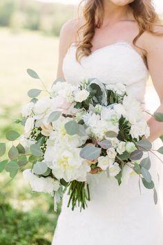 white peony + eucalyptus bouquet | Kati Mallory