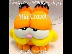 Aula cofre Garfield  em Biscuit -  Bia Cravol