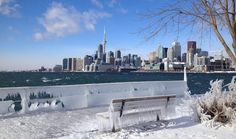 Toronto from Icy Polson Pier by Bruce Lee Fair