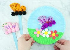 Paper Plate Fluttering Butterfly Craft | I Heart Crafty Things