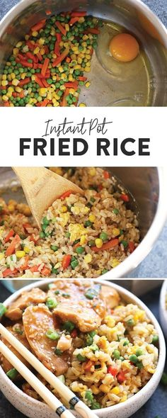 This healthy fried rice recipe is quick, easy and made completely in the Instant Pot! The perfect combination of veggies, brown rice, eggs, veggie broth and soy sauce makes for the savory fried rice flavor you love without all those added fillers. Jazz up your dinner with this Instant Pot Healthy Fried Rice today!