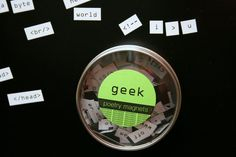 geek magnetic poetry