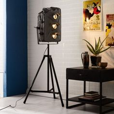 Petrol Gas Can Floor Lamp. Recycled from an old Antique Jerry can.