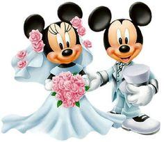 Risultati immagini per minnie e topolino sposi