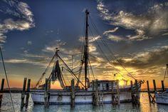 Port Royal South Carolina, got to love South Carolina Shrimp and the hard working shrimpers who bring it home.