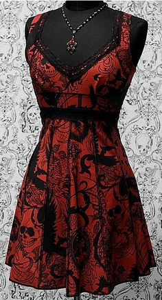 VINTAGE STYLE COCKTAIL DRESS - GOTHIC TATTOO ...