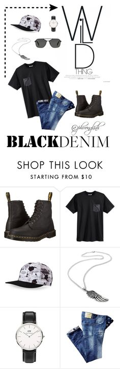 """My boyfriend's style"" by hoang-phuong-linh ❤ liked on Polyvore featuring Dr. Martens, Hurley, WeSC, Daniel Wellington, Prada, men's fashion and menswear"
