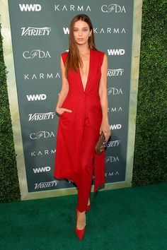 LOS ANGELES, CA - FEBRUARY Angela Sarafyan attends the Runway To Red Carpet, hosted by Council of Fashion Designers of America, Variety and WWD at Chateau Marmont on February 2018 in Los Angeles, California. (Photo by Matt Winkelmeyer/Getty Images) Red Carpet Party, Red Carpet Event, Casual Fashion Trends, Fashion Brands, Fashion Designers, Latest Street Fashion, Fashion 2018, California Style, California Fashion