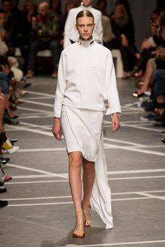 White Asymmetric Hemline #trend forspring summer 2013 GivenchyS/S 2013  #fashion #trends