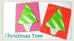 Easy #Origami #Christmas card! LINK: http://youtu.be/LfQz_gk2ejU  #crafts