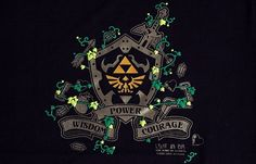 """Zelda"" themed t-shirt graphic"