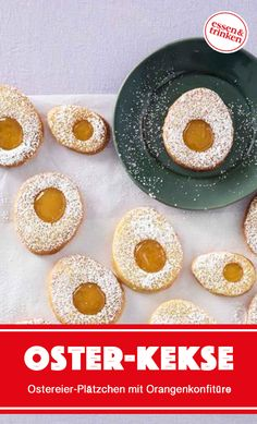 Recipe for Easter egg cookies - Easter cookies? These pretty Easter egg cookies taste delicious orange and look great o - No Egg Desserts, Desserts Ostern, Easy Easter Desserts, Dessert Recipes, No Egg Cookie Recipe, No Egg Cookies, Cookie Recipes, Easter Bunny Cake, Easter Cupcakes