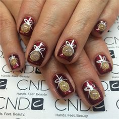 Day 359: Merry Christmas Nail Art http://www.nailsmag.com