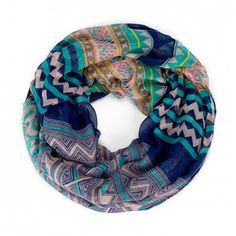 Women's Navy Polyester Printed Infinity Tribal Scarf by Sole Society Circle Scarf, Loop Scarf, Cute Scarfs, Fashion Beauty, Womens Fashion, Teen Fashion, Neck Scarves, Pretty Outfits, Amazing Outfits