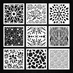 Set of 100 vector square panels with floral abstract and geometric patterns for laser, plasma and CNC machine cutting. Room Divider Screen, Room Screen, Laser Cut Panels, Metal Panels, Geometric Patterns, Autocad, Perforated Metal Panel, Machine Cnc, Laser Cut Stencils