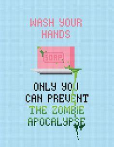 Zombie Apocalypse geeky cross stitch - Amazing Cross Stitch | Cool Mom PIcks