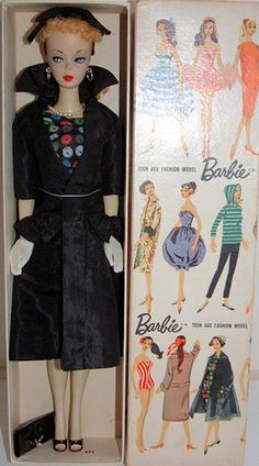"""August 2013 ~ The highest priced item sold was this #1 Ponytail Barbie, listed as a Dressed Sample Doll, wearing Easter Parade. She received 3 bids and sold for $7,650. The seller stated it was a """"one of a kind #1 DRESSED SAMPLE DOLL. She was made for salesmen only to show her to customers."""" She included her box and the complete outfit. He hat was attached to her head with thread."""