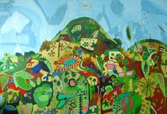 'South of the border' (2012), by Ivonne Mace. Acrylic on canvas 1.1m x 1.9m.
